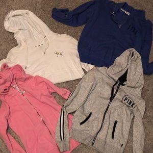 Bundle of 4 VS/PINK sweatshirts